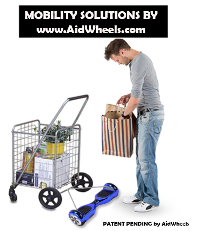 aidwheels hoverboard street shopping trolley inventions