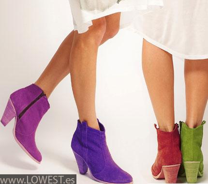 botas botines colores