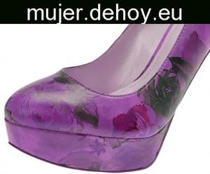 zapatos flamenca morados