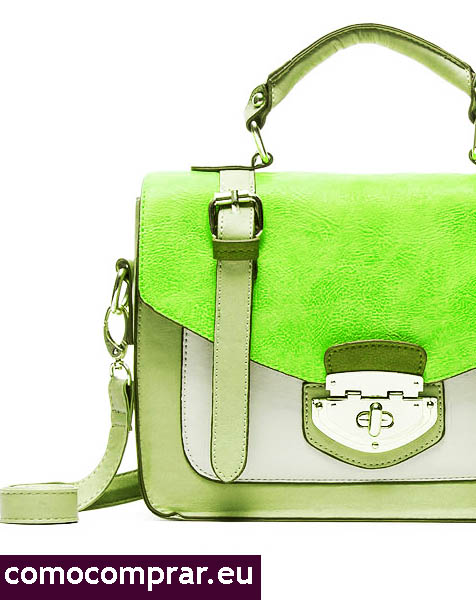 bolso verde fluor