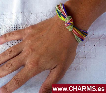 pulseras cuero y plata