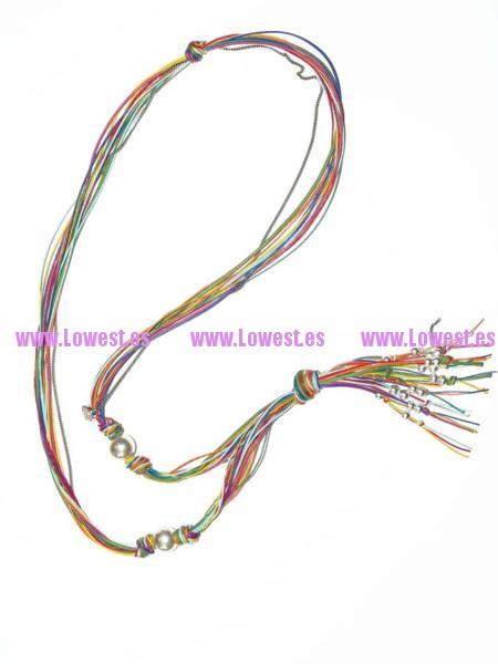collar cordones y cadena
