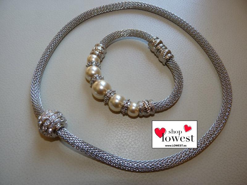 pulsera gargantilla perlas