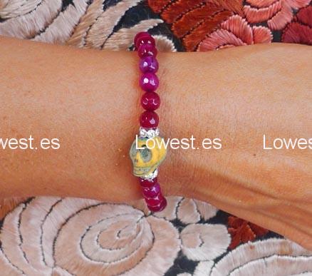 pulseras piedras de colores