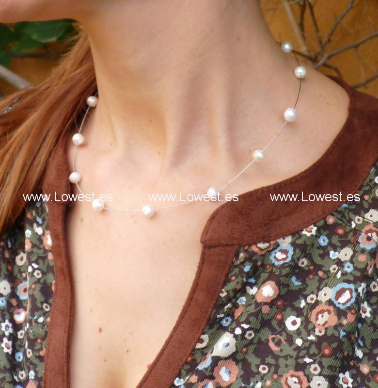 collares finos perlas