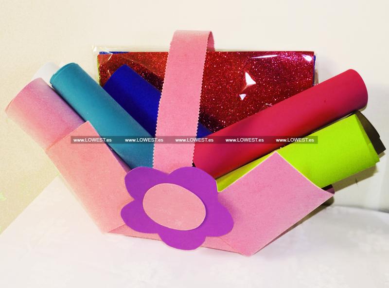 Tienda Lowest » Cestas de chucherias y bolsos de goma eva