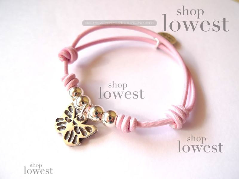 pulsera elastica rosa