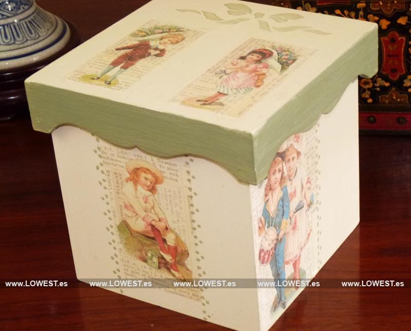 Ideas en decoraci n de madera decoupage para regalar o - Caja decorada con fotos ...