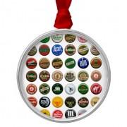 chapas de cerveza vintage españolas adorno navideño redondo de metal retrocharms 1