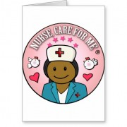 gifts nurse care for me dark hair tarjeta de felicitacion retrocharms 1