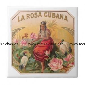 la rosa cubana diseno vintage cuba azulejo cuadrado pequeño retrocharms 1