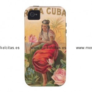 la rosa cubana diseno vintage cuba case mate iphone 4 funda retrocharms 1