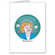 medallita merkelcita cuidame plis azul tarjeta de felicitacion retrocharms 1