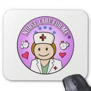 nurse care for me ginger alfombrilla de raton retrocharms 1