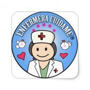 regalos originales enfermera cuidame pegatina cuadrada retrocharms 1
