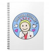 regalos para doctora rubia y celeste cuidame cuadernos retrocharms 1