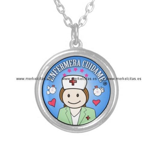 Regalos para enfermeras colgante redondo retrocharms - Regalos para enfermeras ...