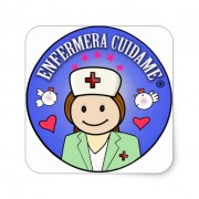 regalos personalizados para enfermeras cuidame pegatina cuadrada retrocharms 1