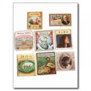 sellos cuba vintage etiquetas memorabilia postal retrocharms 1