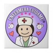 sorprende a tu enfermera favorita azulejo cuadrado pequeño retrocharms 1