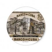 vintage cubano banco de cuba de cuba pegatina redonda retrocharms 1