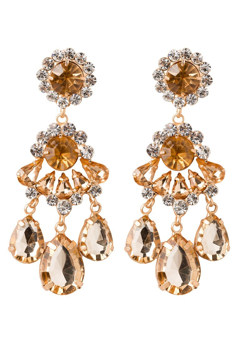 Pendientes sweet deluxe BURGAS goldcoloured/crystal/topaz
