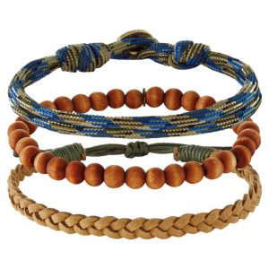 Pulsera Icon Brand MELAMORPHO 3 PACK Pulsera brown
