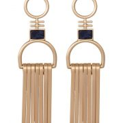 Pendientes Pilgrim goldcoloured/blue