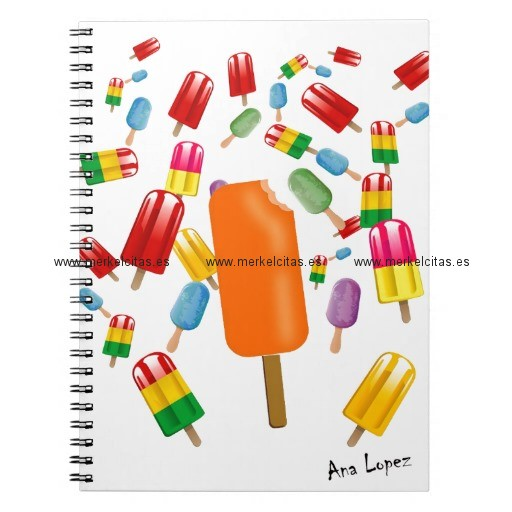 big popsicle chaos by ana lopez libreta espiral retrocharms