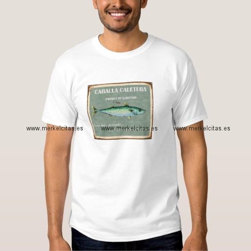 camiseta cartel antiguo vintage cadiz caballas retrocharms