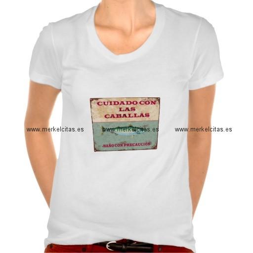 camiseta vintage de cadiz para mujer caballas retrocharms