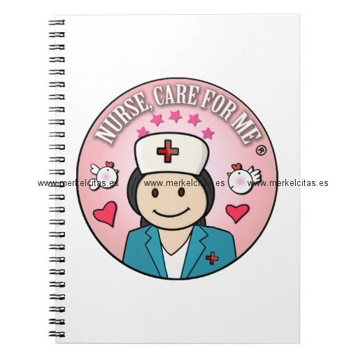 nurse care for me gifts blue and pink cuaderno retrocharms