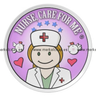 nurse care for me ginger platos para fiestas retrocharms