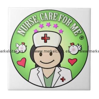nurse will you care for me green azulejo cuadrado pequeño retrocharms