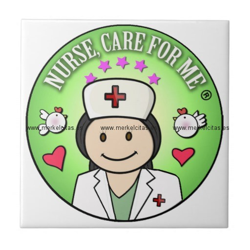 nurse will you care for me green azulejo cuadrado pequeño retrocharms