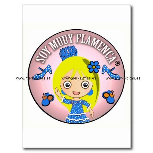 pulseras de flamenca de soy muuy flamenca rubia postal retrocharms