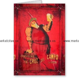 regalos anuncio cerveza vintage retrocharms tarjeta de felicitacion retrocharms