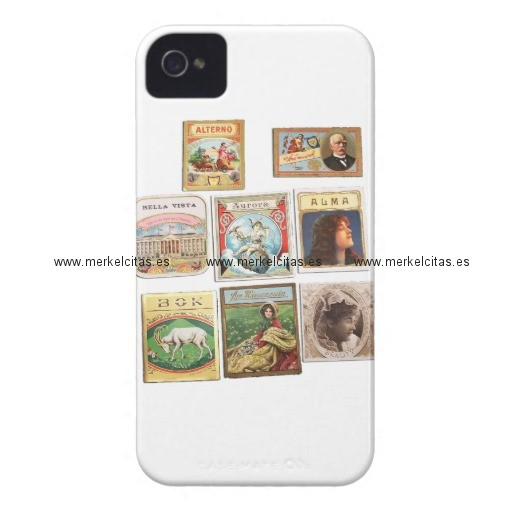 sellos cuba vintage etiquetas memorabilia case mate iphone 4 carcasa retrocharms