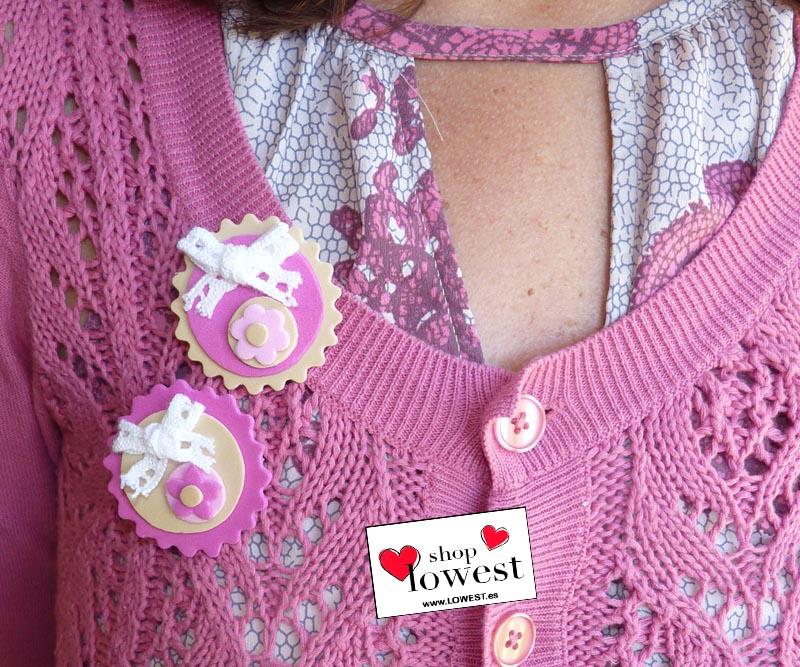 broche rosa goma eva mujer 020912891