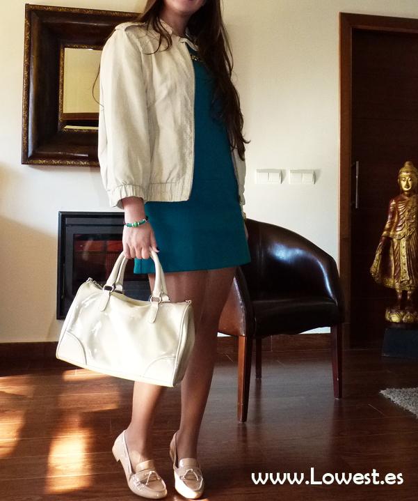 vestido azul blog demoda 2017 zapatos