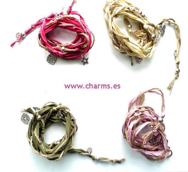pulseras tela moda 2012