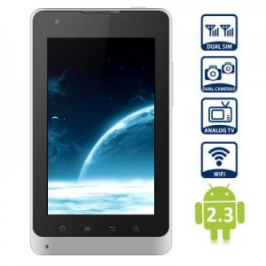 5 inch E8 Android 2.3 Phablet MTK6573 1.0GHz TV Bluetooth Dual Cameras WVGA Screen