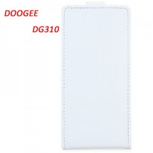 DOOGEE DG310 Leather + Plastic Fashion Design Vertical Protective Wallet Case Cover