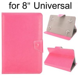 Crystal Grain Pattern Universal PU Leather Case for 8 inch Tablet PC with Magnetic Flip Stand Design