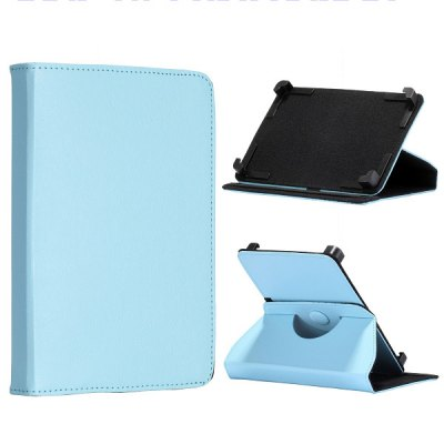 360 Rotation Universal Flip Stand Elastic Belt PC + Leather Case for 7 inch Table PC