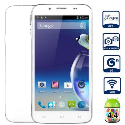 Android 4.4 C2000 3G Smartphone MTK6582 Quad Core 1.3GHz 4GB ROM GPS WiFi With 5.0 inch WVGA Screen