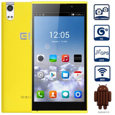 Elephone P10 Android 4.4 3G Phablet with 5.0 inch IPS Screen MTK6582 1.3GHz Quad Core 1GB RAM 16GB ROM GPS Dual Cameras