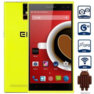 Elephone P2000 Android 4.4 3G Phablet with 5.5 inch HD IPS Screen MTK6592 1.7GHz Octa Core 2GB RAM 16GB ROM Fingerprint Identification GPS OTG NFC Dua