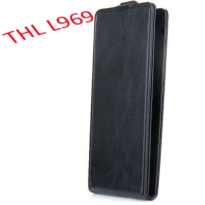 Buscar mejor precio para THL L969 Leather Plastic Fashion Design Vertical Protective Wallet Case Cover