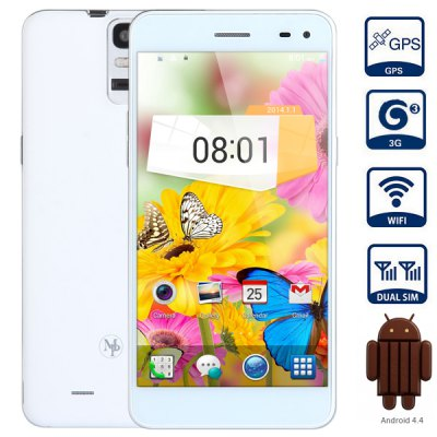 MPIE T6S Android 4.4 3G Phablet with 5.5 inch HD Screen MTK6582 1.3GHz Quad Core 2GB RAM 4GB ROM WiFi GPS OTG NFC Gesture Sensing Fingerprint Unlockin